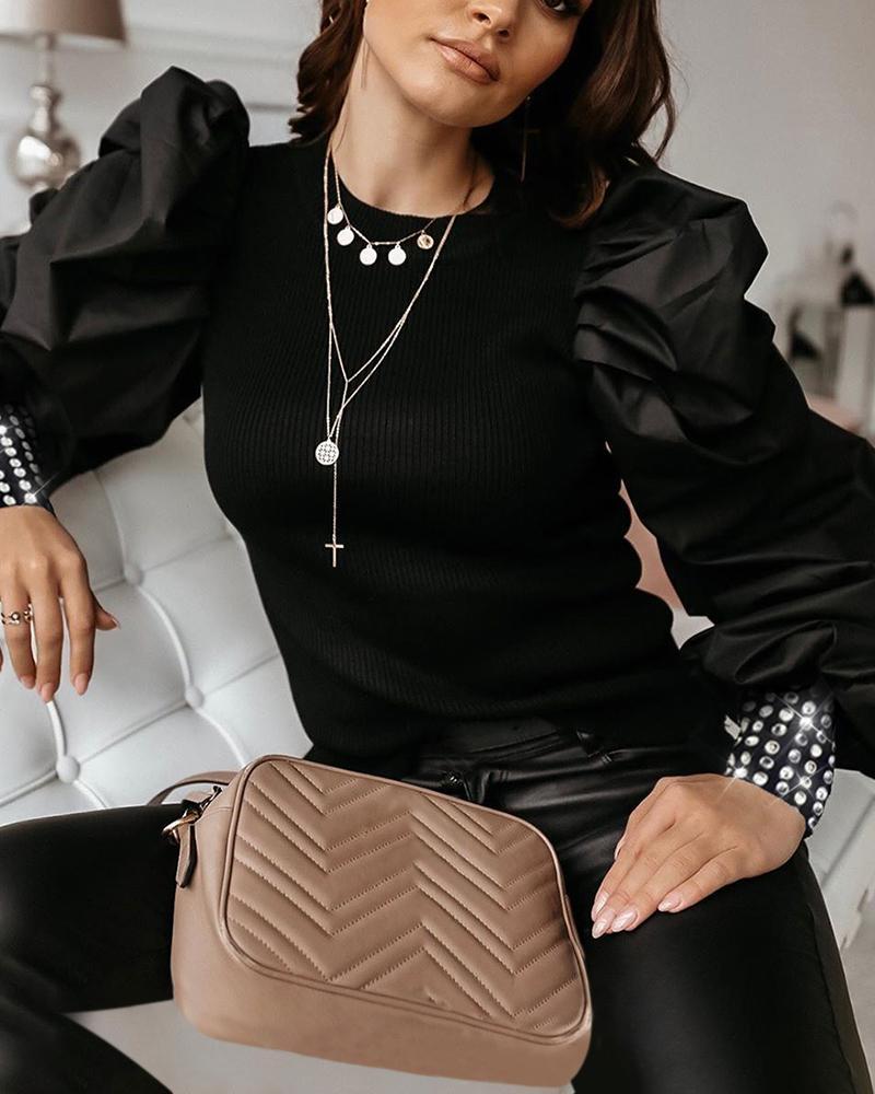 chicme / Blusa con manga de tachuelas