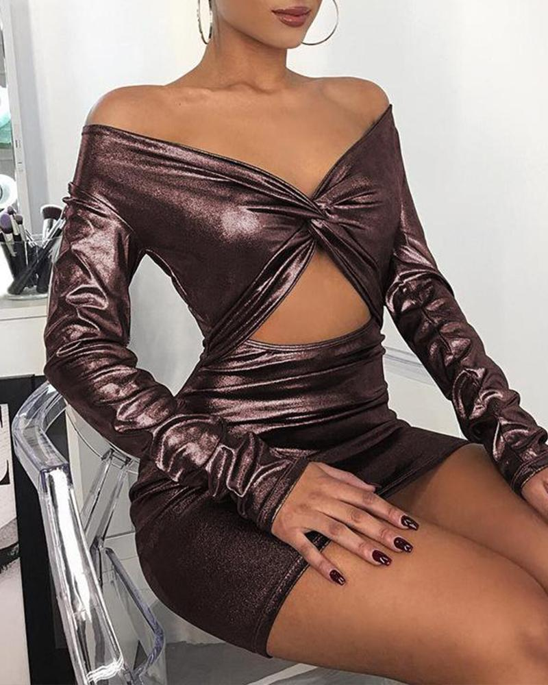 Twist Front Cut Out Party Dress фото
