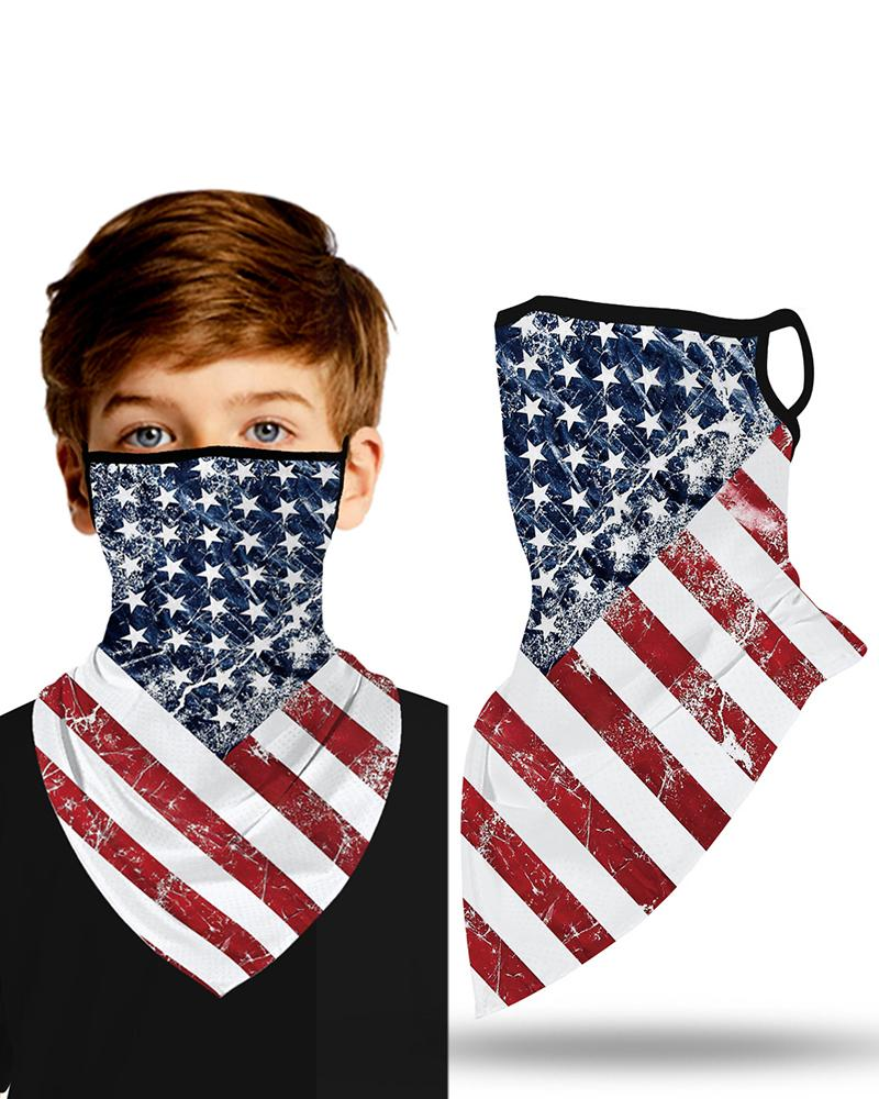 Flag Print Breathable Ear Loop Face Cover Windproof Outdoors For Children фото