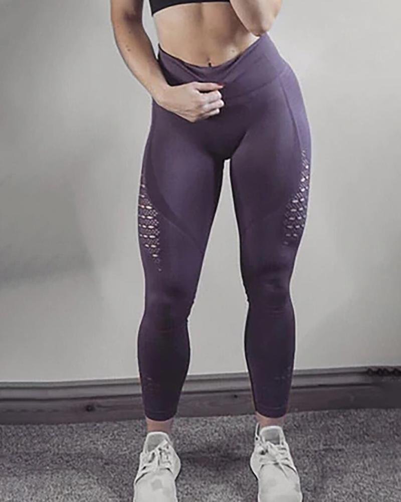 ivrose / High Waist Solid Seamless Workout Gym Yoga Legging