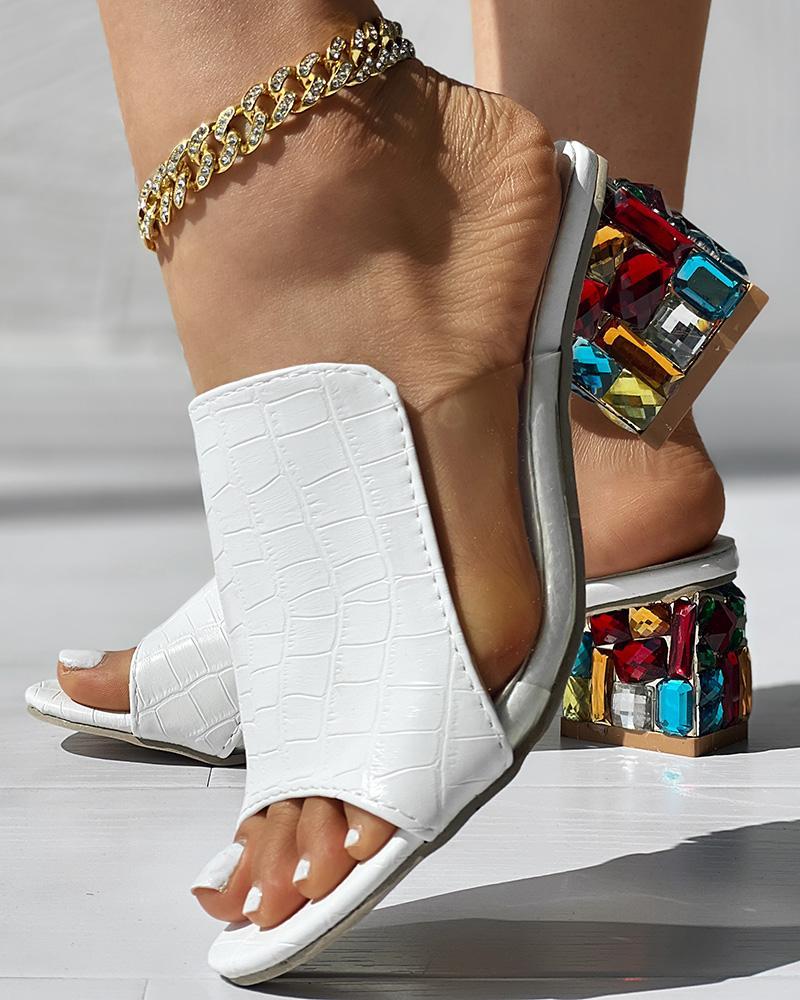Peep Toe Studded Detail Sandal фото
