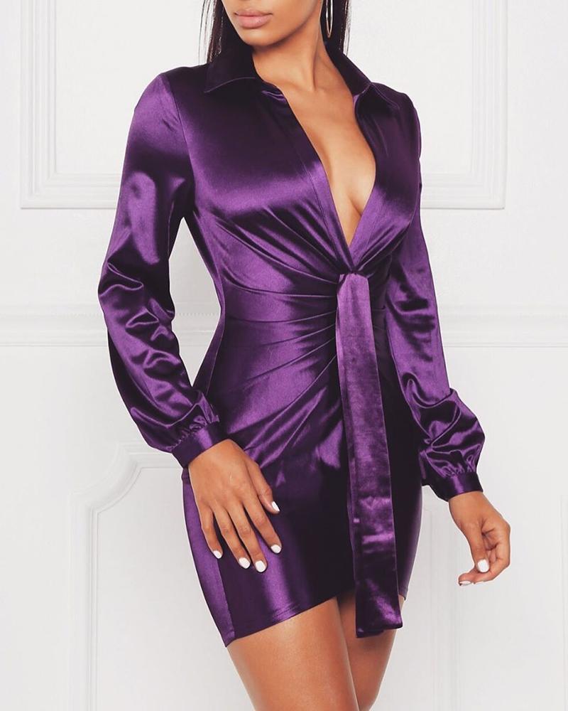 chicme / Vestido ajustado de cintura fruncida con pliegues