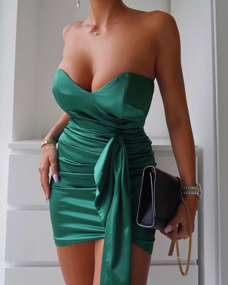 ivrose / Vestido de fiesta sin mangas acanalado tubo
