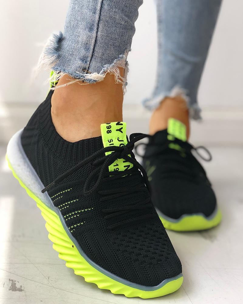 ivrose / Zapatillas Yeezy con cordones transpirables de punto Colorblock