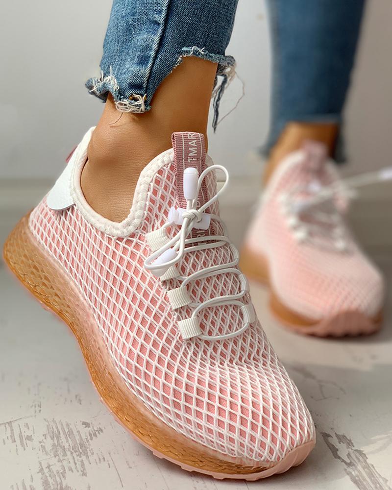 chicme / Zapatillas con cordones transpirables colorblock ahuecado