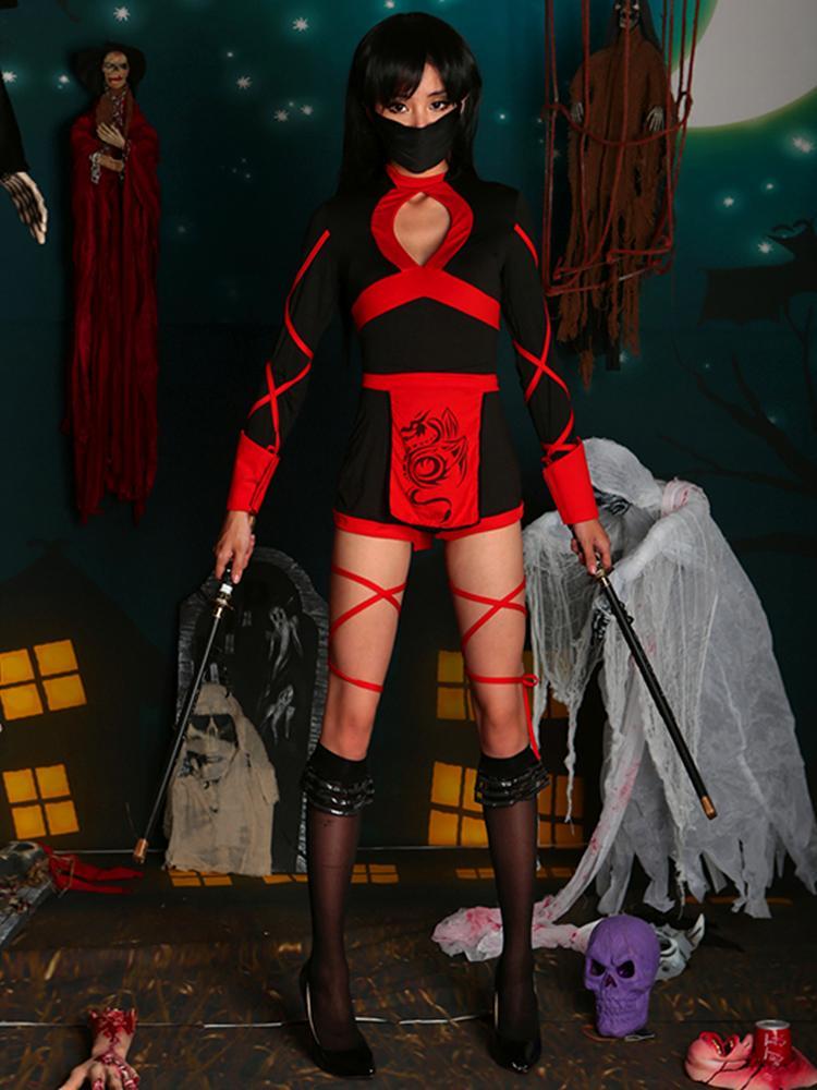 Deluxe Women Adult Dragon Ninja Halloween Costume Set