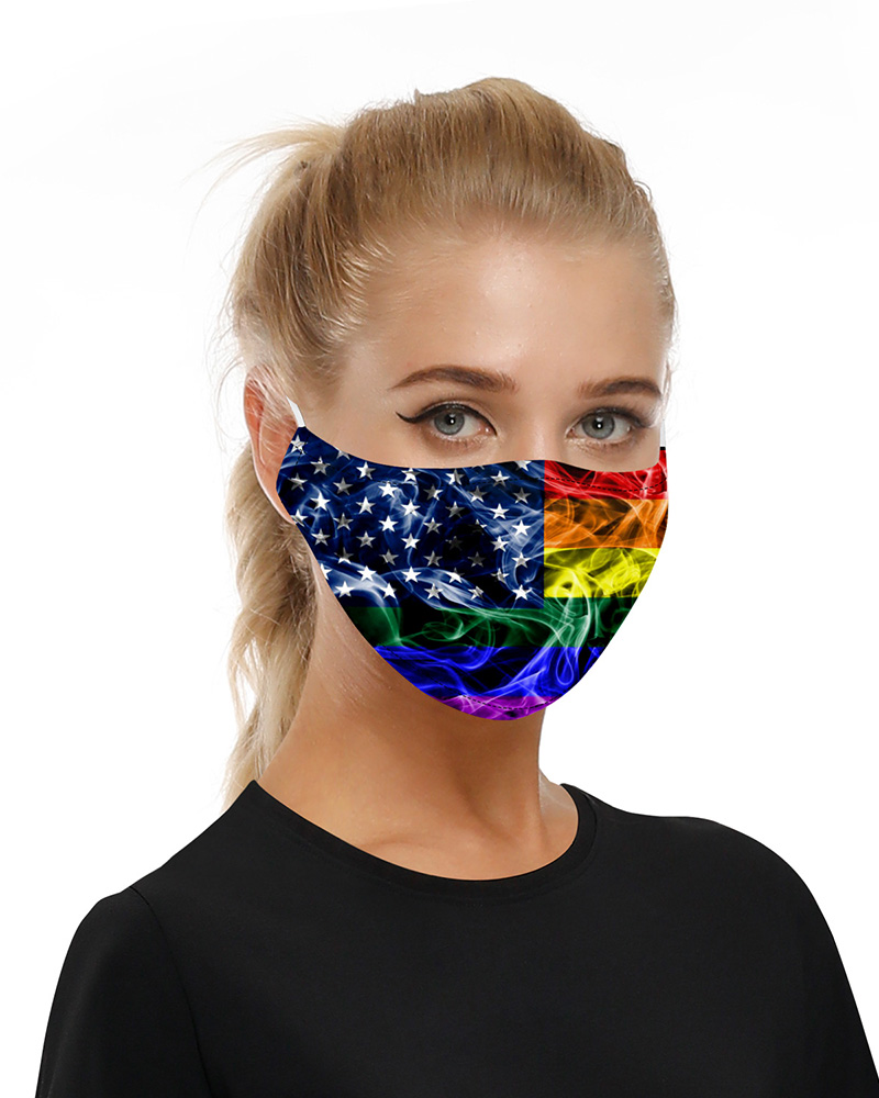 Stars Print Mouth Mask Breathable Washable And Reusable With Replaceable Filter фото