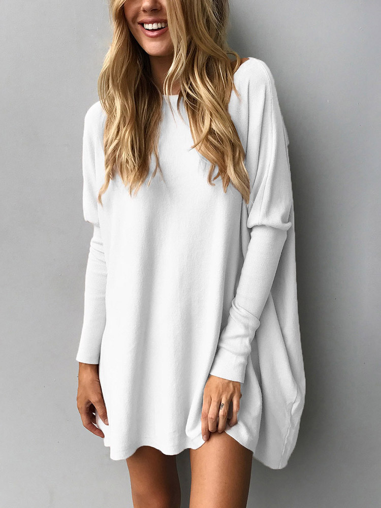 Trendy Solid Long Sleeve Casual Top фото