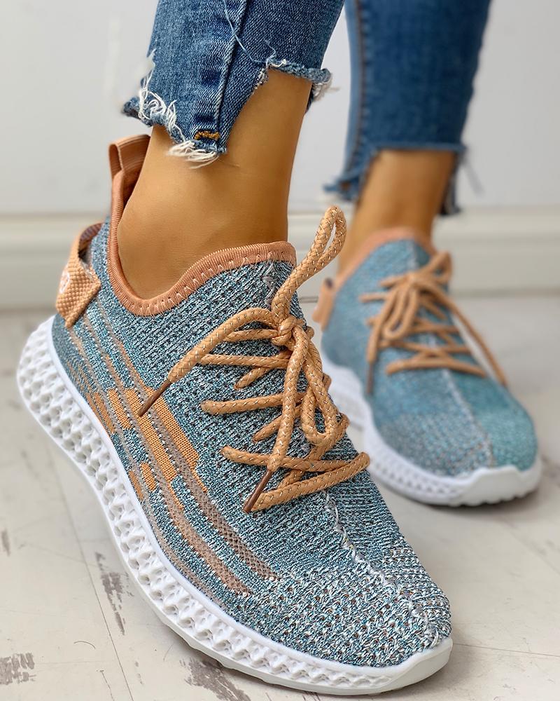 chicme / Zapatillas Yeezy con cordones, transpirables y de punto
