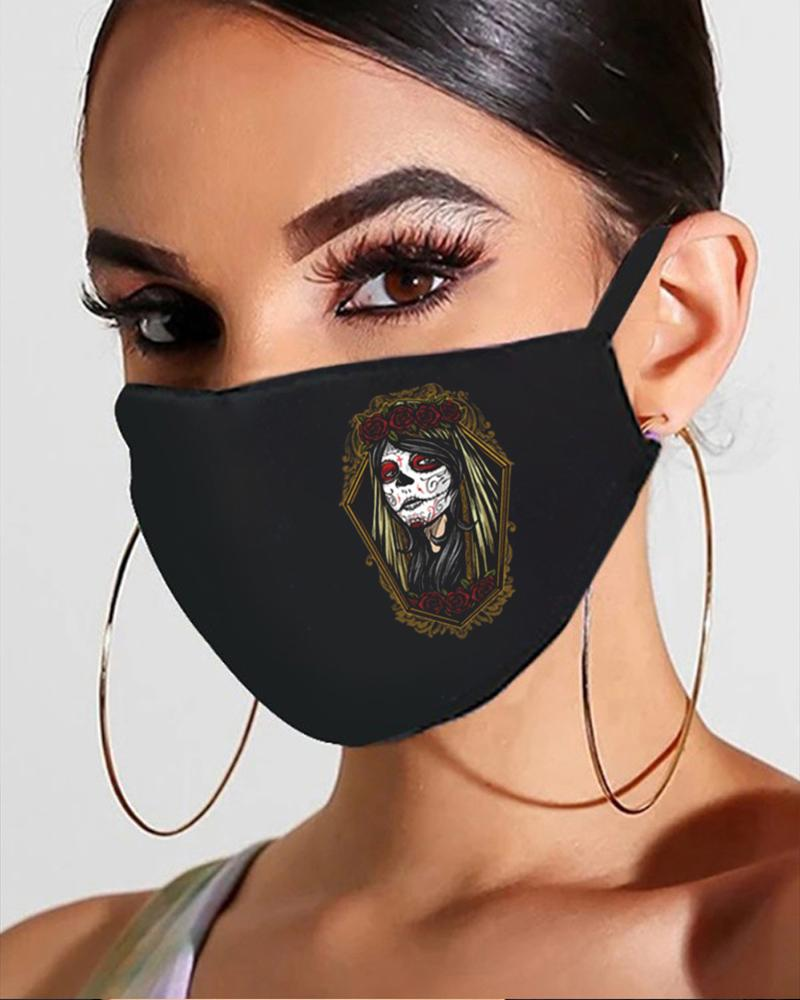 Halloween Skull / Ghost Print Breathable Mouth Mask фото