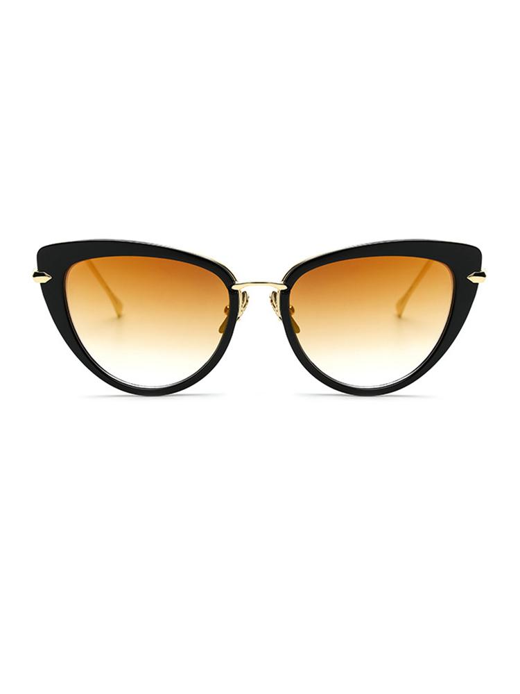 Vintage Cat Eye Lens Sunglasses - Gold
