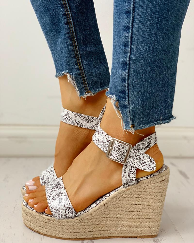 Open Toe Espadrille Wedge Sandals фото