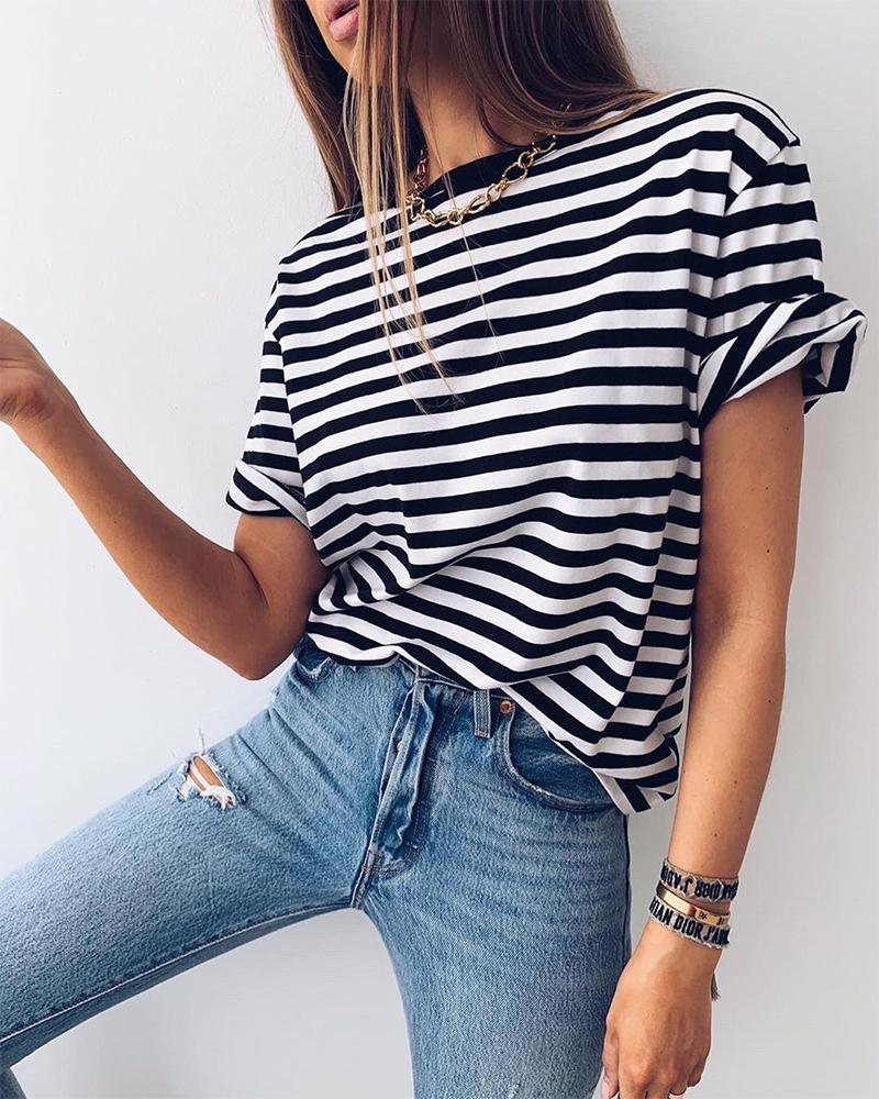 Striped T-Shirt фото
