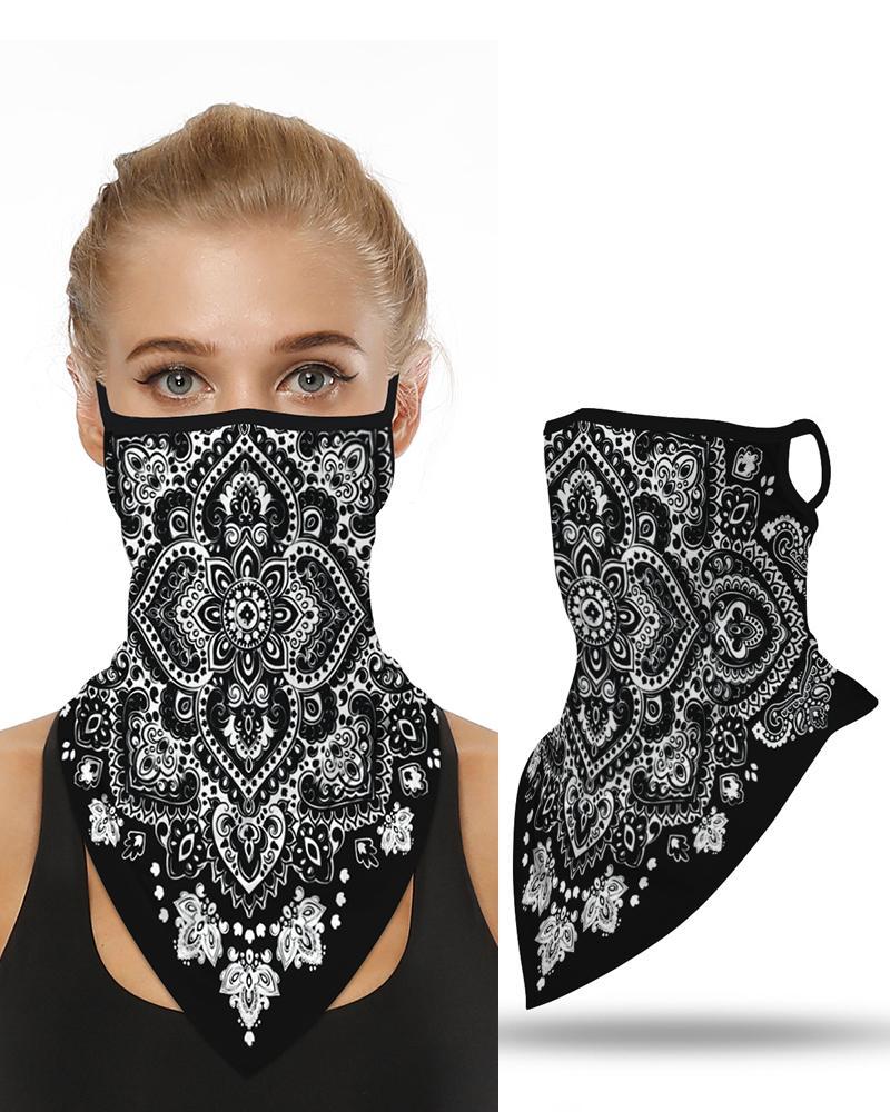 Floral Print Breathable Ear Loop Face Cover Outdoors Bandana фото