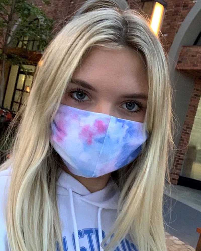 Tie Dye Leopard Print Breathable Mouth M .a. s. k Washable And Reusable фото