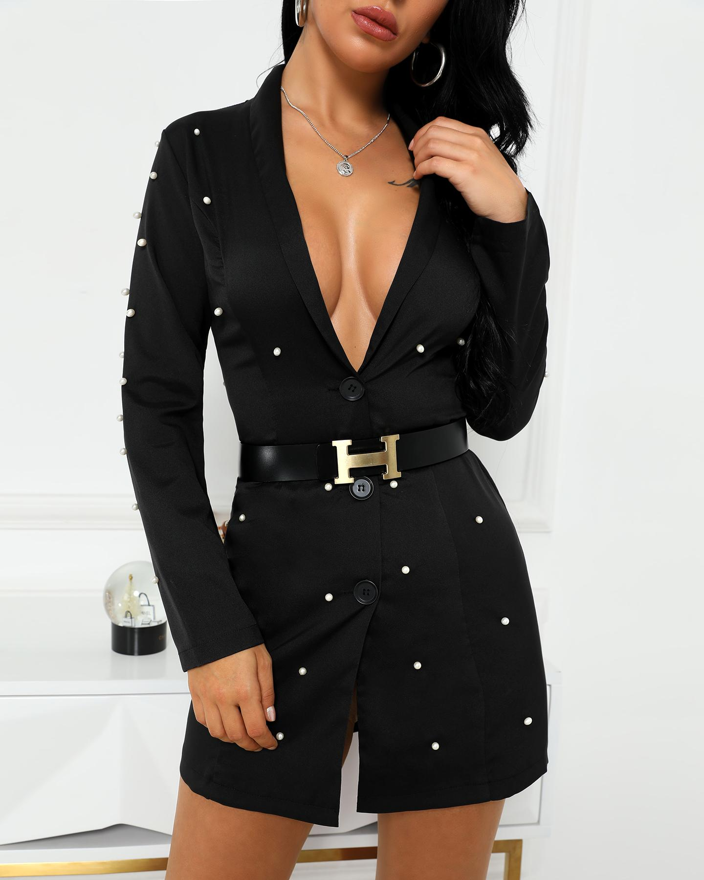 chicme / Vestido de trabalho embelezado