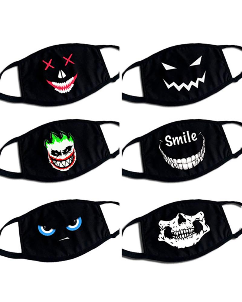 Phiz Print Ear Loop Breathable Mouth Mask фото