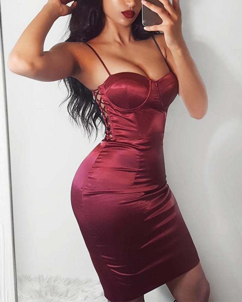 boutiquefeel / Vestido sem mangas com cordões