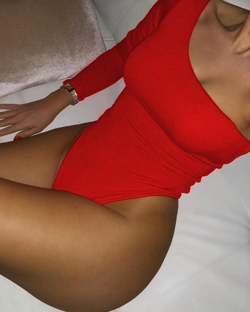 One Long Sleeve One Piece Swimsuit фото