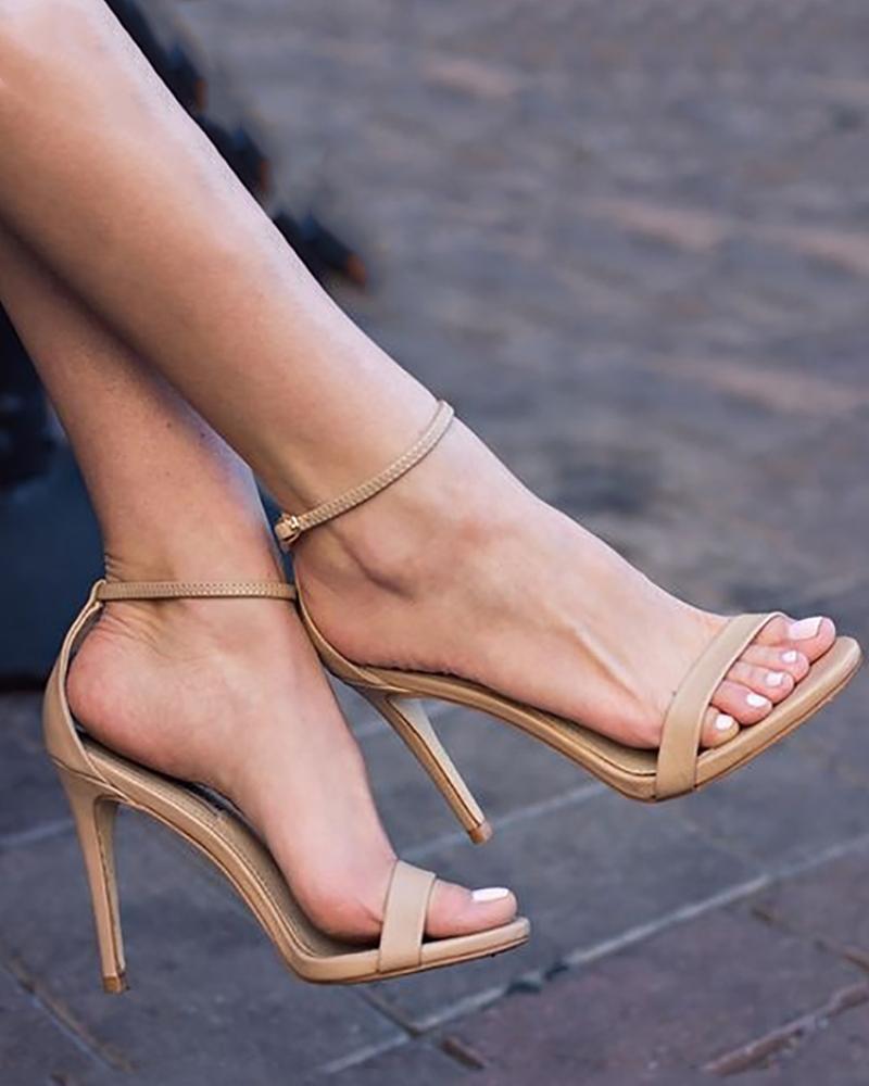 Sexy Ankle Strap High Heel Stiletto Sandals