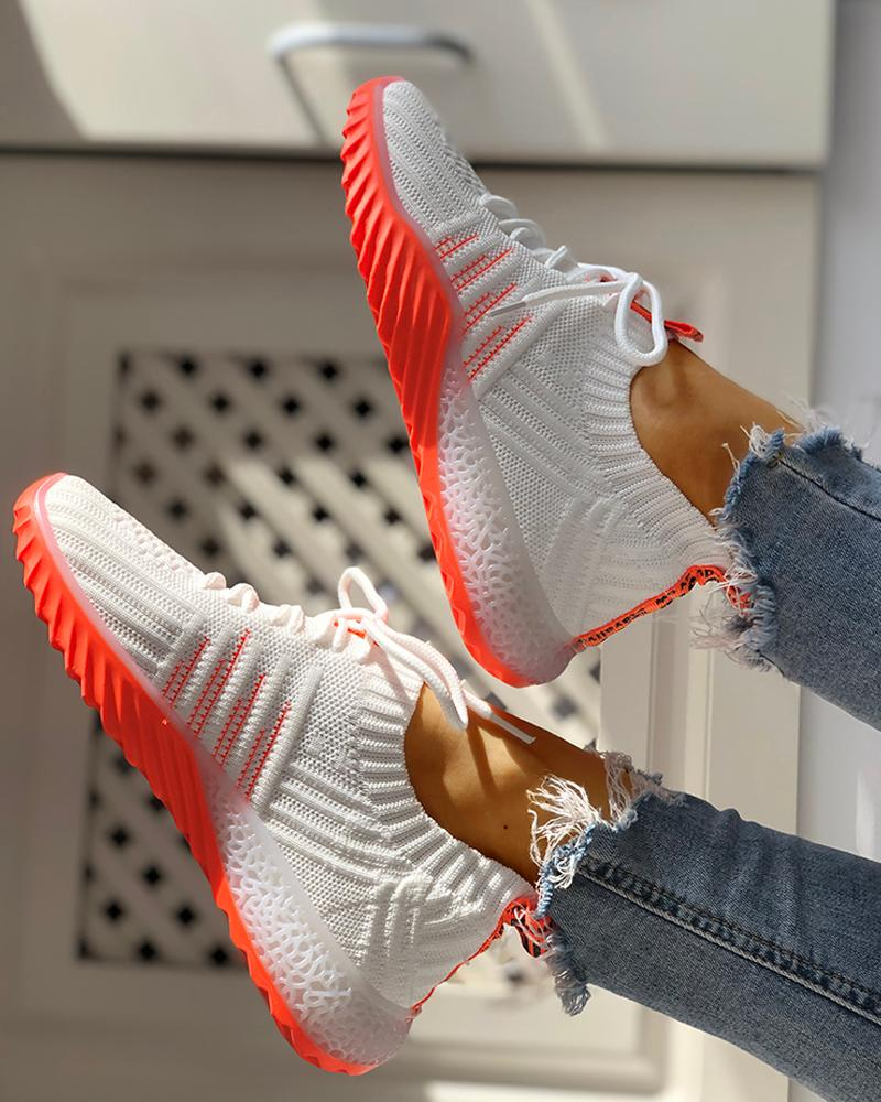 chicme / Zapatillas Yeezy con cordones transpirables de punto Colorblock