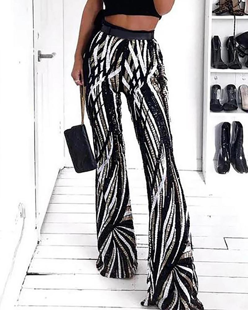 Sassy Curves Flare Trousers фото