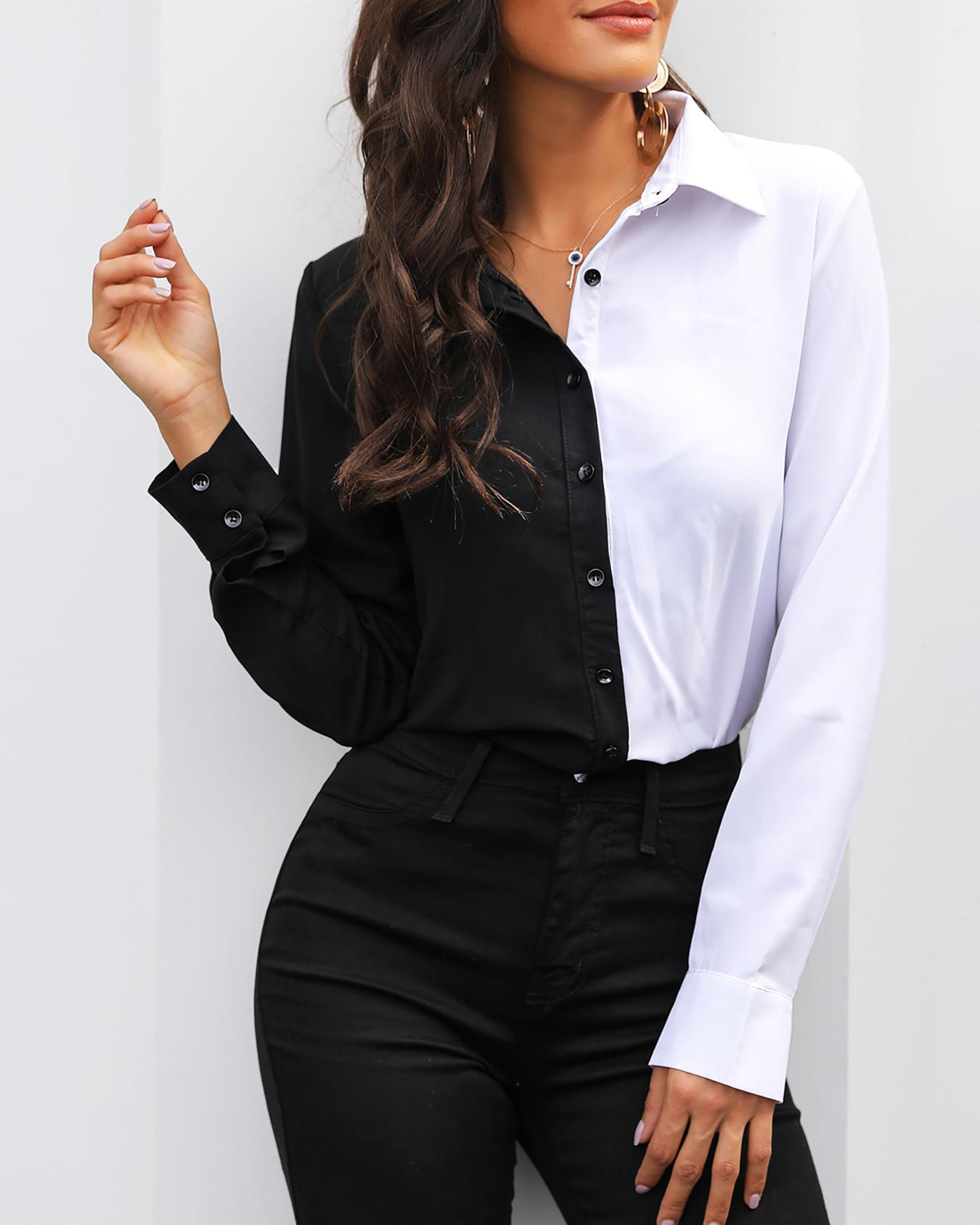 Two Tone Cut And Sew Shirt