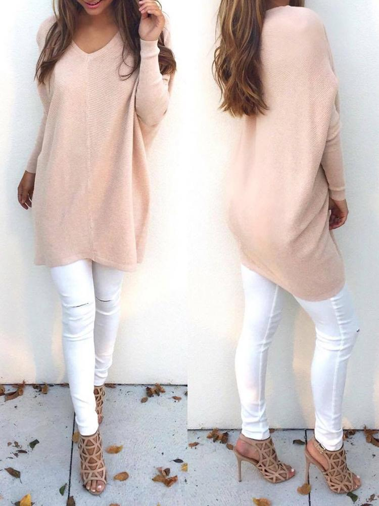 Casual Basic Pullover Sweater
