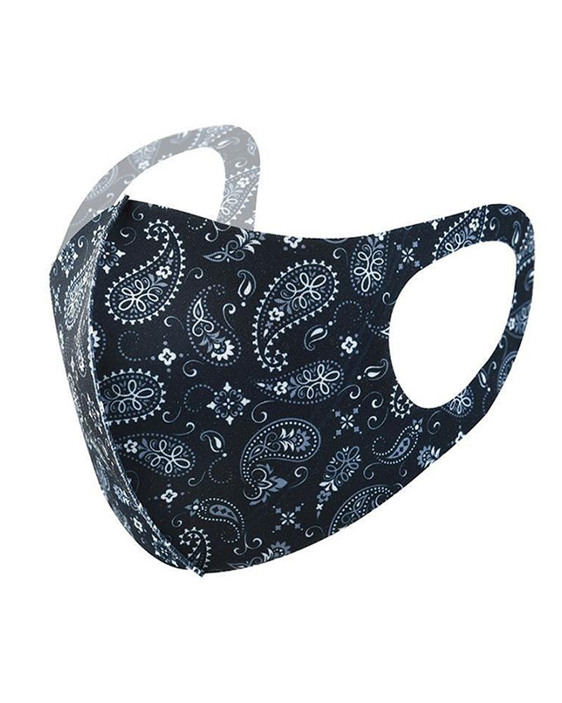 Ice Silk Paisley Print Breathable Mouth Mask фото