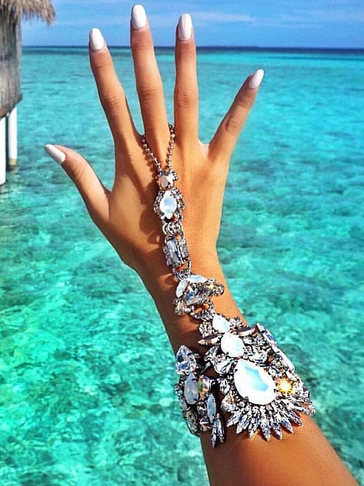 Shining Beading Splicing Women's Bracelet