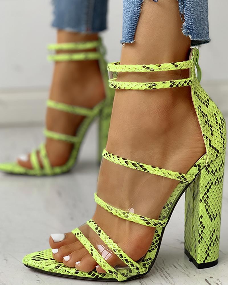 ivrose / Peep Toe Straps Thin Heeled Sandals