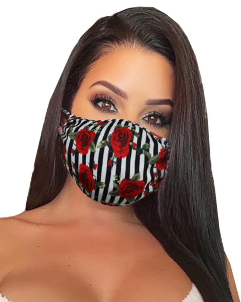 Floral Print Breathable Mouth Mask Washable And Reusable фото