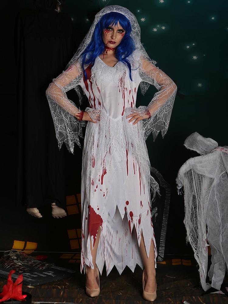 Till Death do Us Apart Zombie Bride Halloween Costume Set