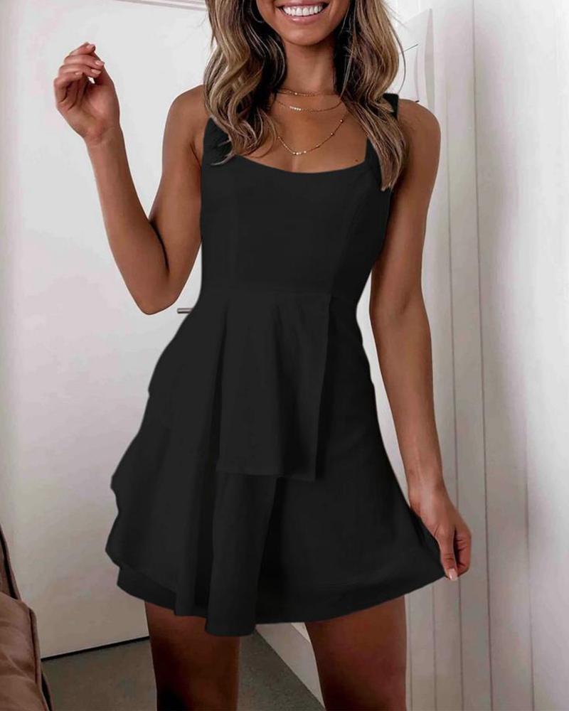 boutiquefeel / Vestido de renda com decote quadrado