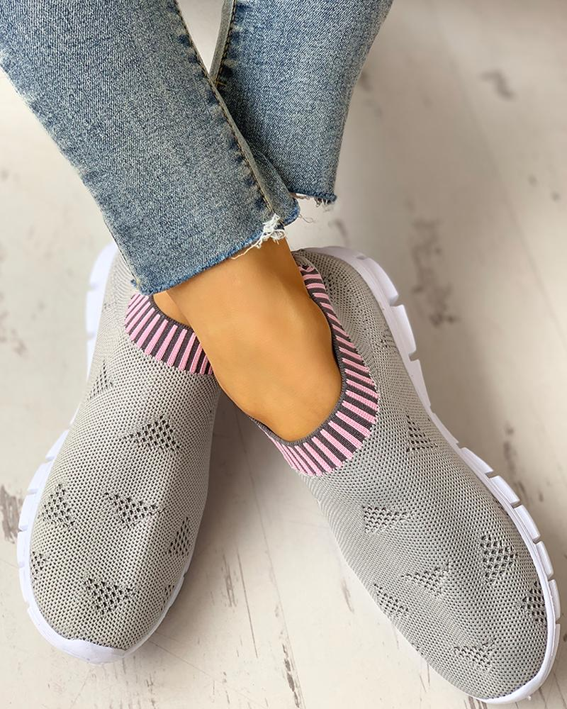 Net Surface Breathable Knitting Casual Shoes фото