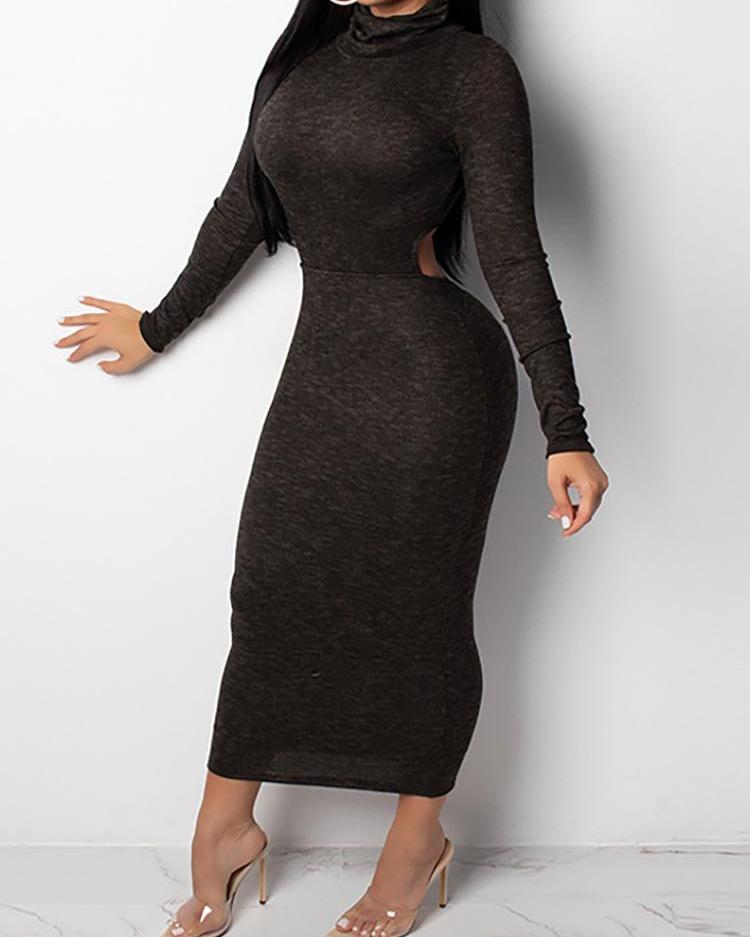 Reversible Cutout Waist Bodycon Dress
