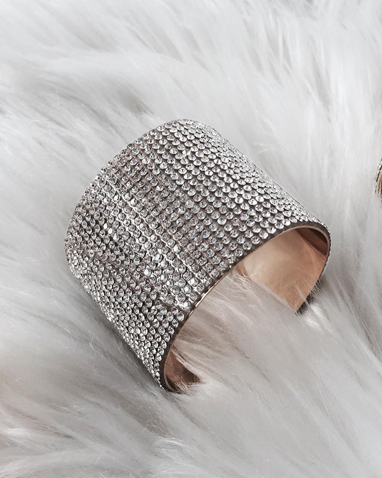 Купить со скидкой Fashion Shiny Embellished Bracelet