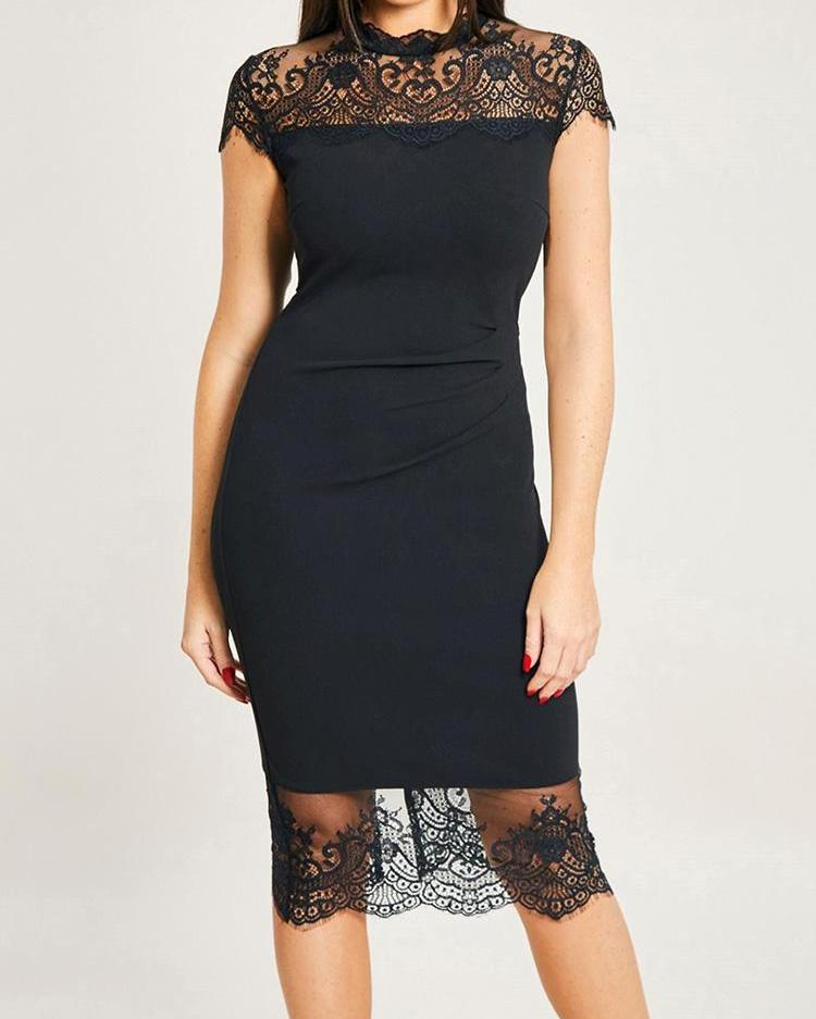 Eyelash Lace Splicing Dress фото