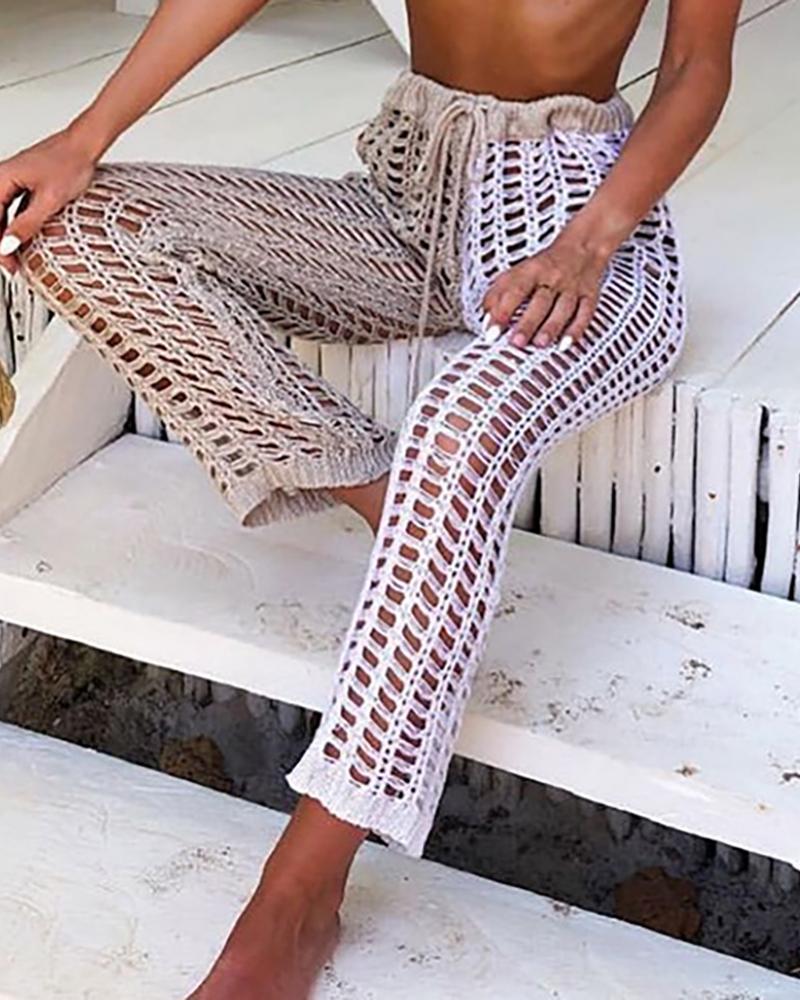 chicme / Pantalones de crochet ahuecados