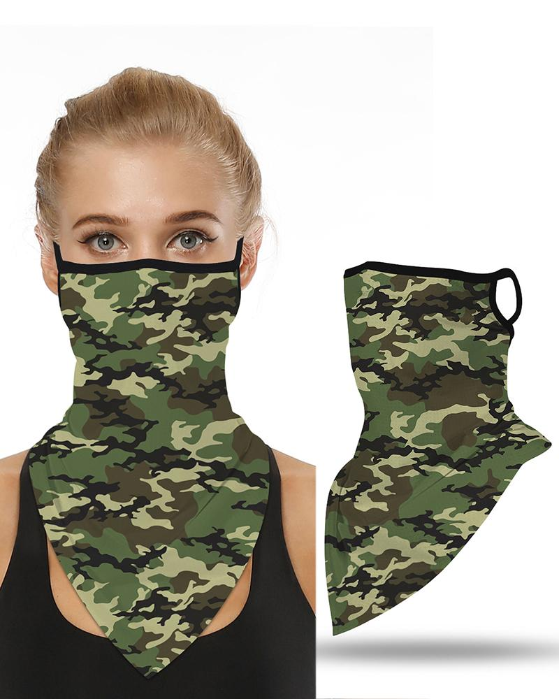 Camouflage Print Breathable Ear Loop Face Cover Windproof Motorcycling Dust Outdoors фото