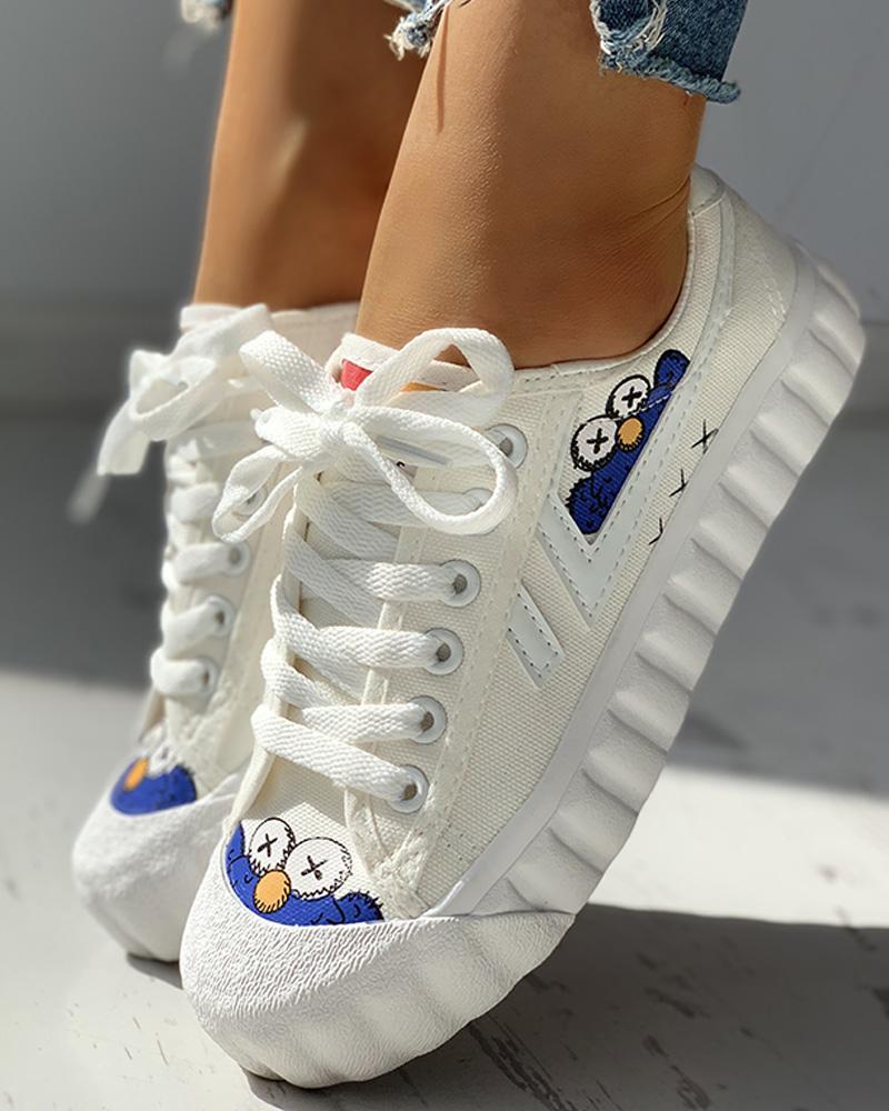 boutiquefeel / Zapatillas de deporte con cordones Patchwork Colorblok