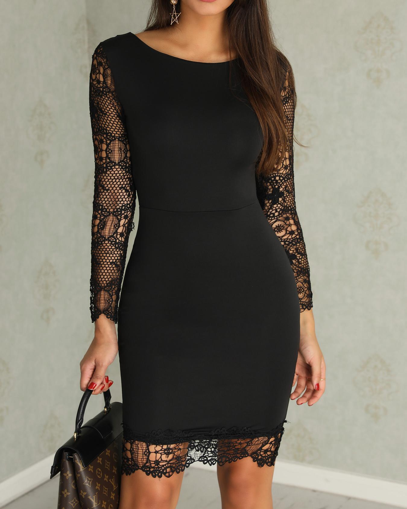 boutiquefeel / Oco out lace emenda vestido bodycon