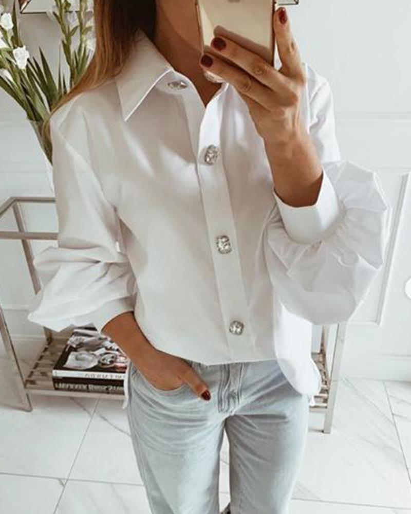 boutiquefeel / Camisa de vestido sólida com botões