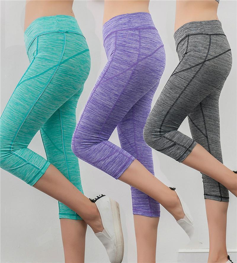 chicme / Calças esportivas das mulheres Calças de yoga calças justas de cintura alta leggings elásticas ginásio atlético correndo calças