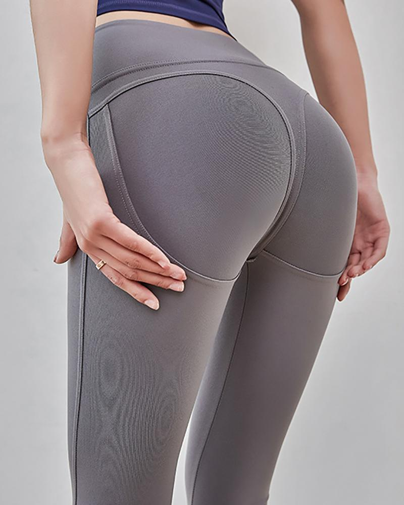 High Waist Solid Yoga Leggings фото