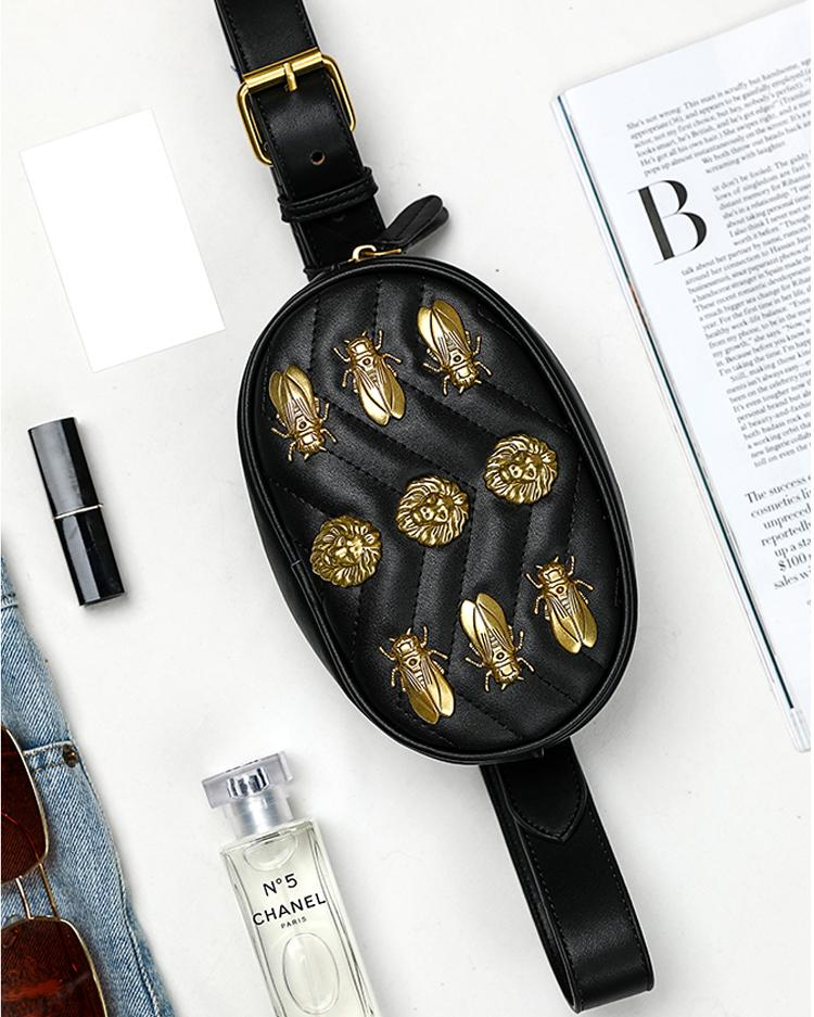 Fashion Metallic Embellished Waist Bag
