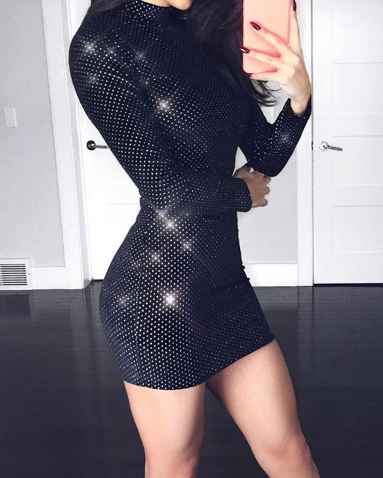 Sexy Glittering Bodycon Mini Dress