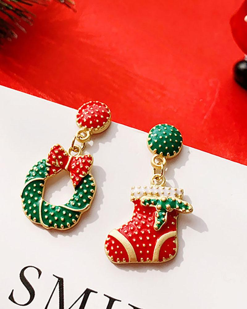 Christmas Pattern Drop Earring