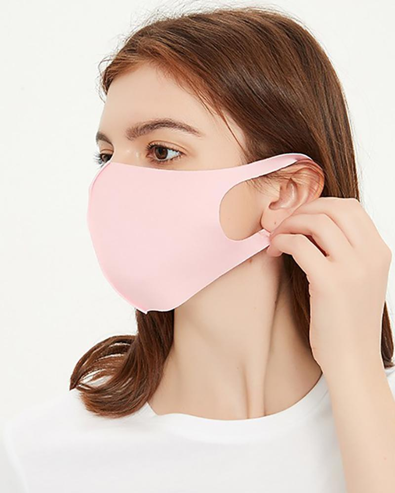 Ice Silk Breathable Mouth Mask Washable And Reusable фото