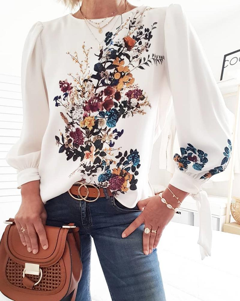 Lovely Bouquet Long Sleeve Top фото